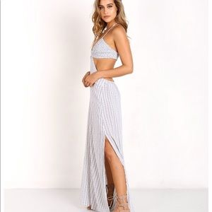 Indah Blaze Maxi Dress in White Noble